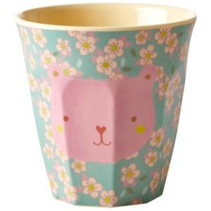 rice lille kop med lyseroed bamse blaa petit vert