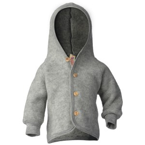 engel hooded jacket with wooden buttons petit vert
