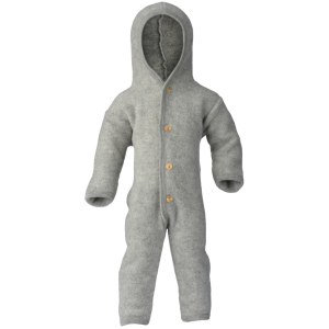 engel hooded overall with buttons with cuffs melange petit vert